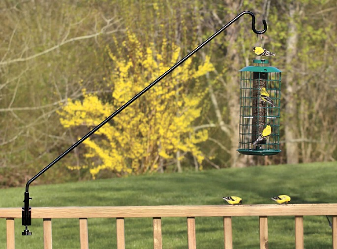 clamp-on bird feeder, Duncraft, balcony furniture