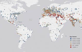 Mapping 6000 Years of Urban Settlements