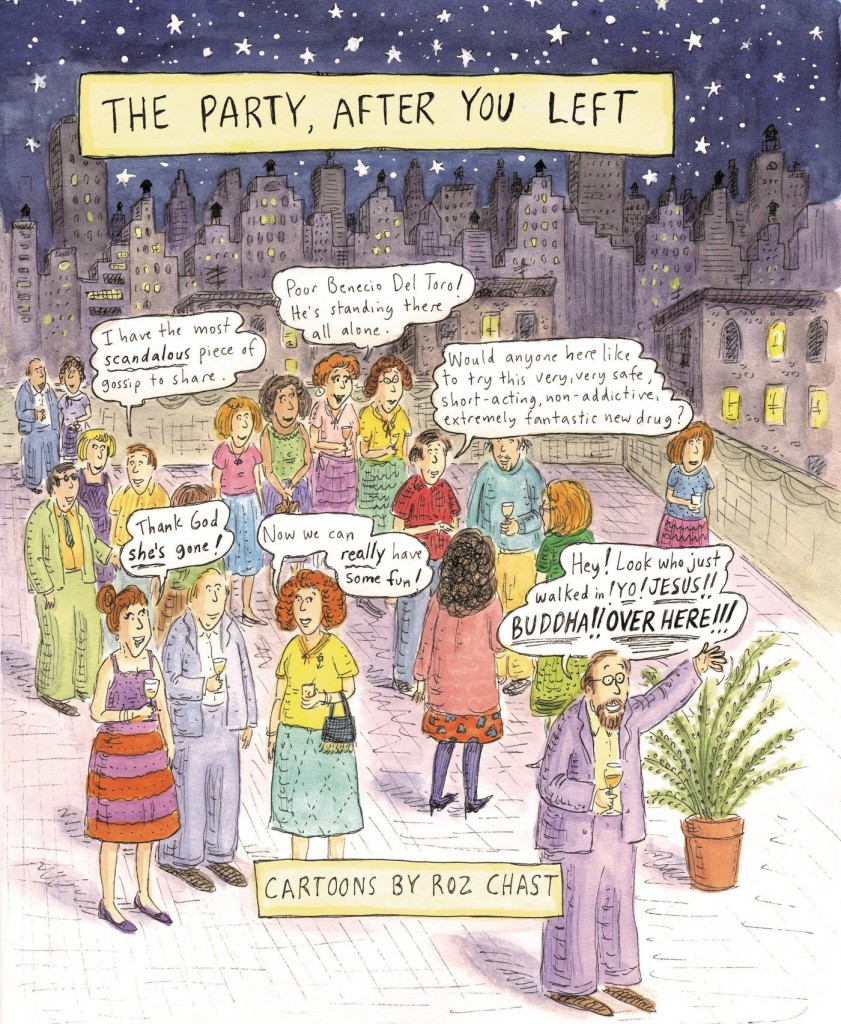 the party after you left rooftop cartoon roz chast