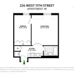 226 West 11th Street, co-op, west village, floorplan
