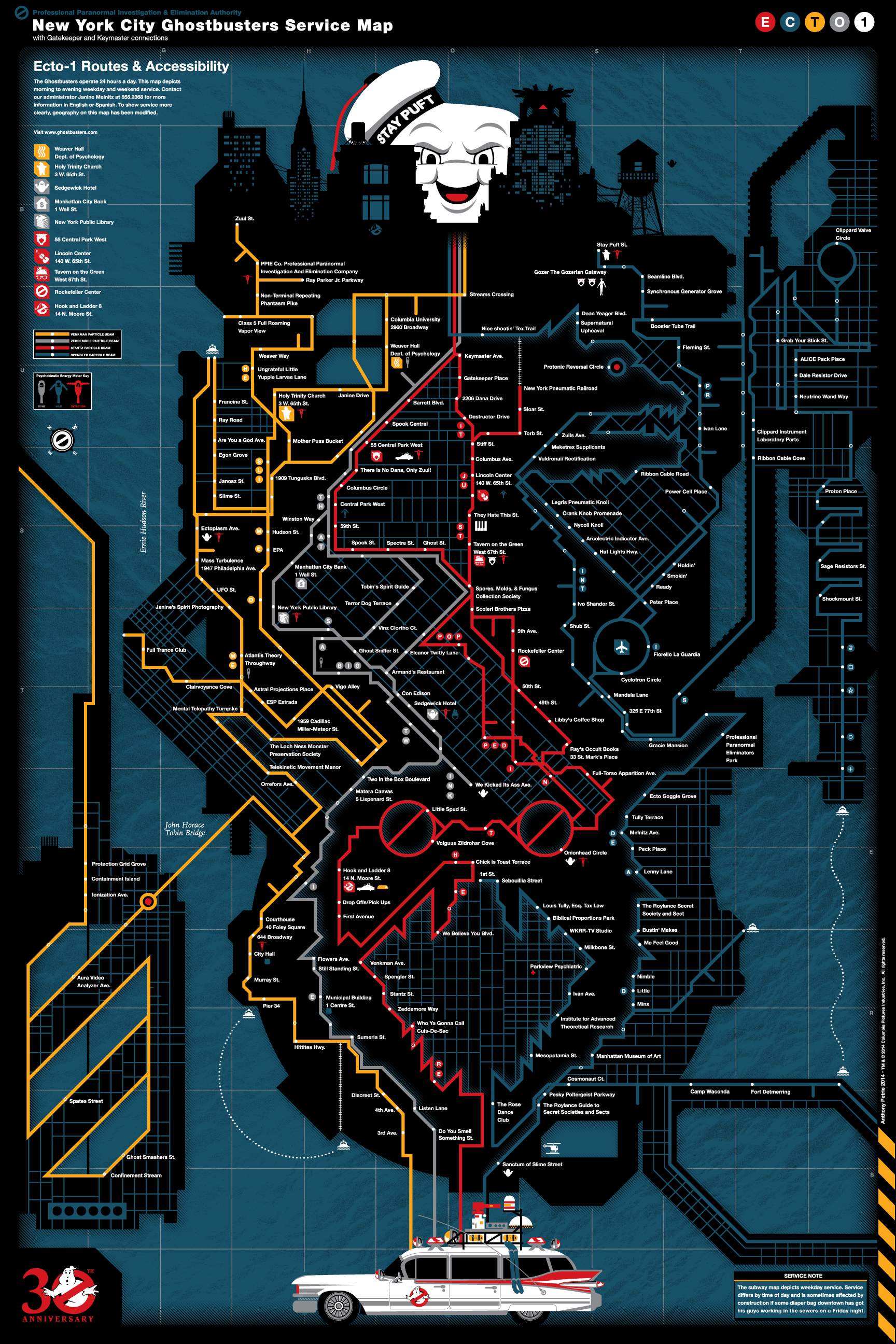 NYC-Ghostbusters Service Map