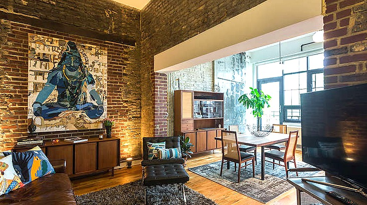 Lewis Steel Building, 76 North 4th Street, living room, rentals