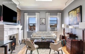 656 Carroll Street, living room, park slope