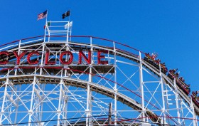 coney island cyclone, roller coasters, coney island