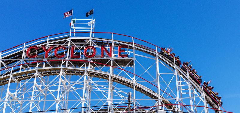 coney island cyclone, roller coasters, coney island