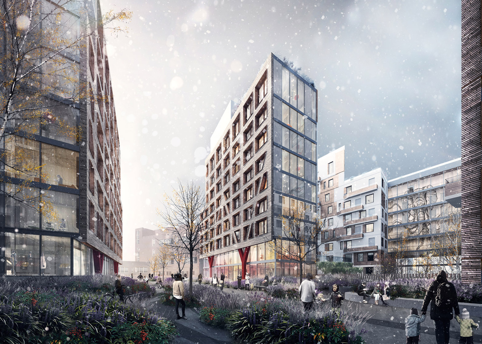 New renderings show rooftop and courtyards at oda 39 s for Architecture 54