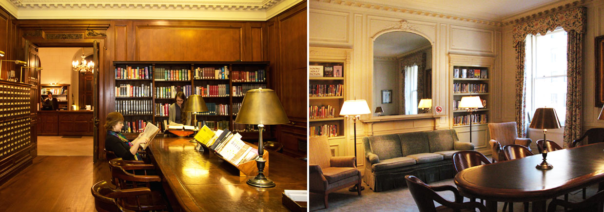 the new york society library reference room