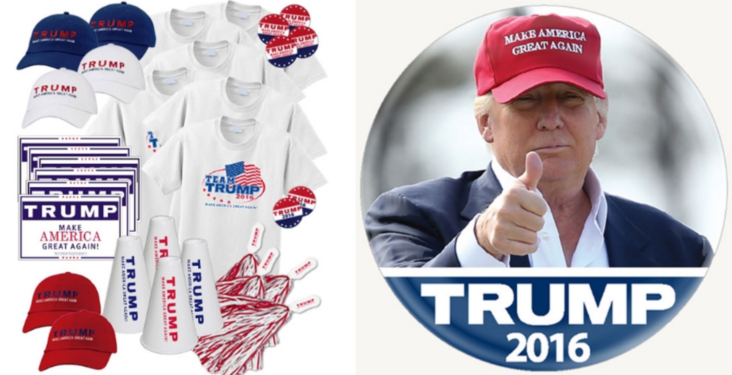 Donald Trump-merchandise-signs