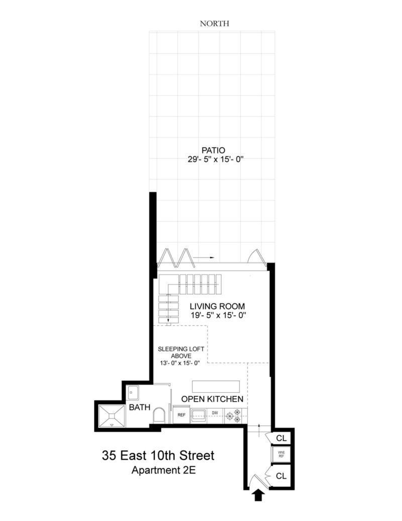 35 East 10th Street, loft, greenwich village, floorplan