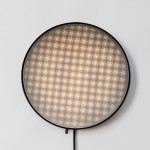 David Derksen, Moiré Lights, Moiré effect, perforated disks, LED light, playful lamps, light patterns