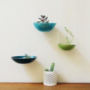 Courtney Dawley, found by a prop stylist, greenpoint designer, vintage planters