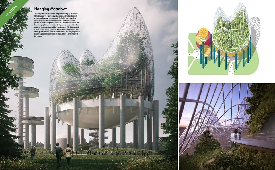 NY State Pavilion-Competition-Hanging Meadow