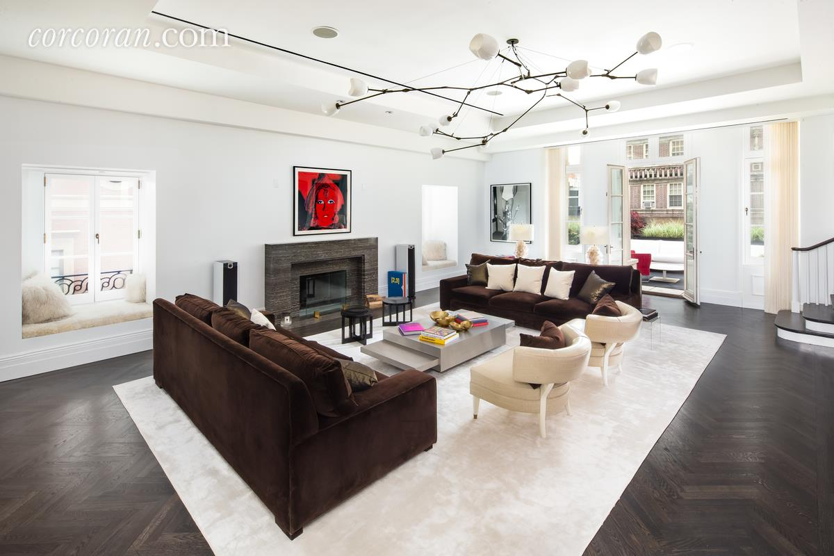 3 East 95th Street, Carhart Mansion, Tamara Mellon, living room,