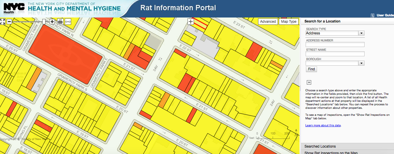 Interactive Map Of Manhattan.Find Out If A Building Has Rats Using The City S Interactive Map 6sqft