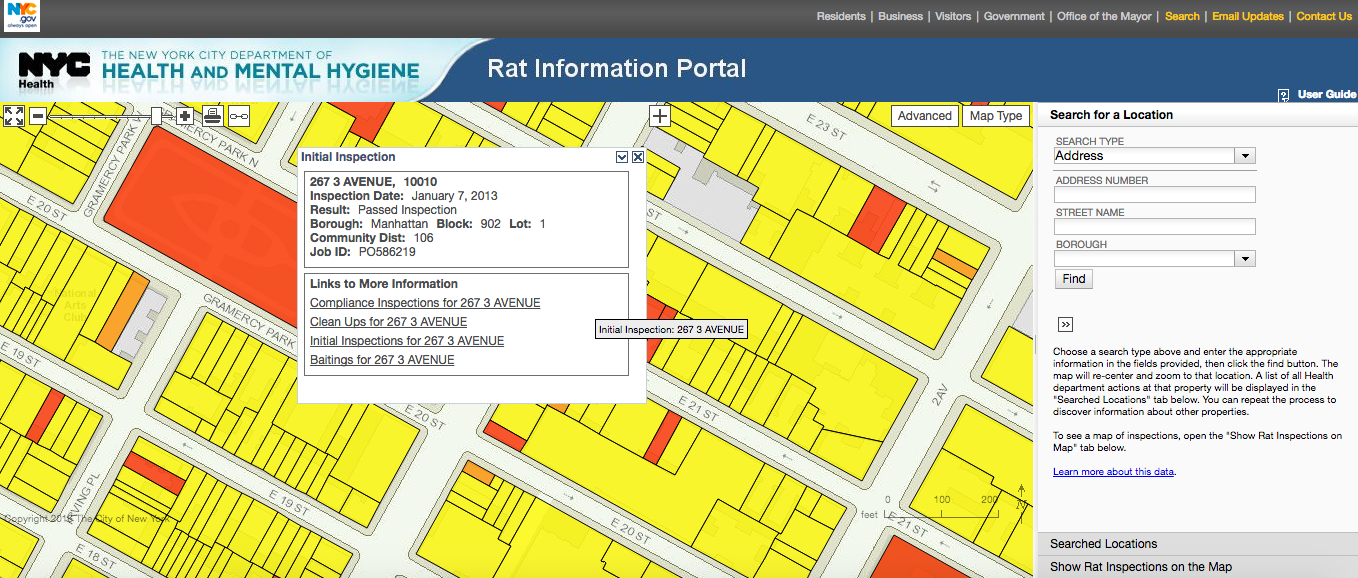 Find Out if a Building Has Rats Using the City's Interactive