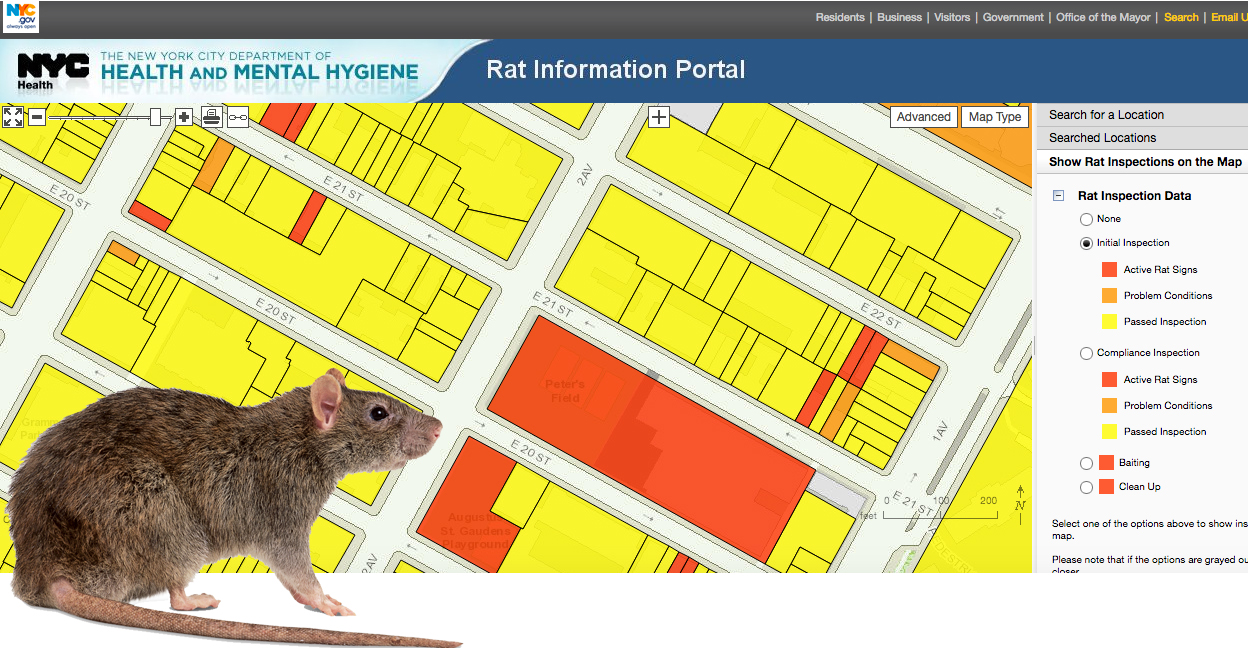 Find Out If A Building Has Rats Using The Citys Interactive Map - Nyc city map portal