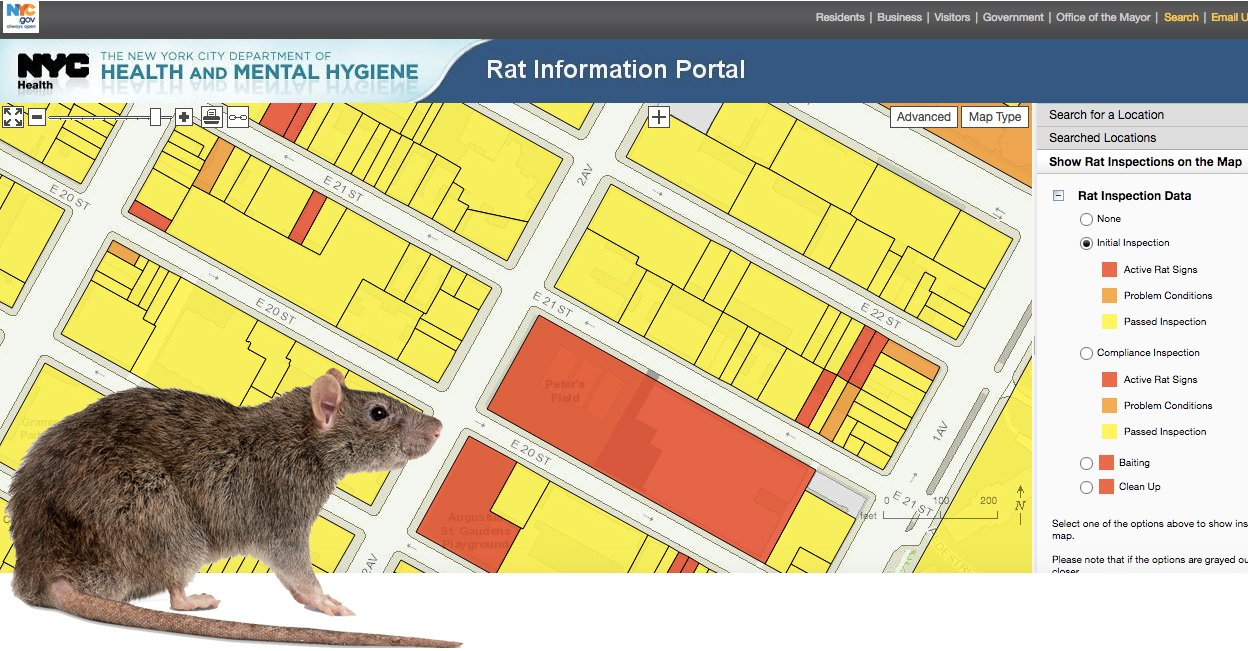 Nyc Map Portal Find Out if a Building Has Rats Using the City's Interactive Map