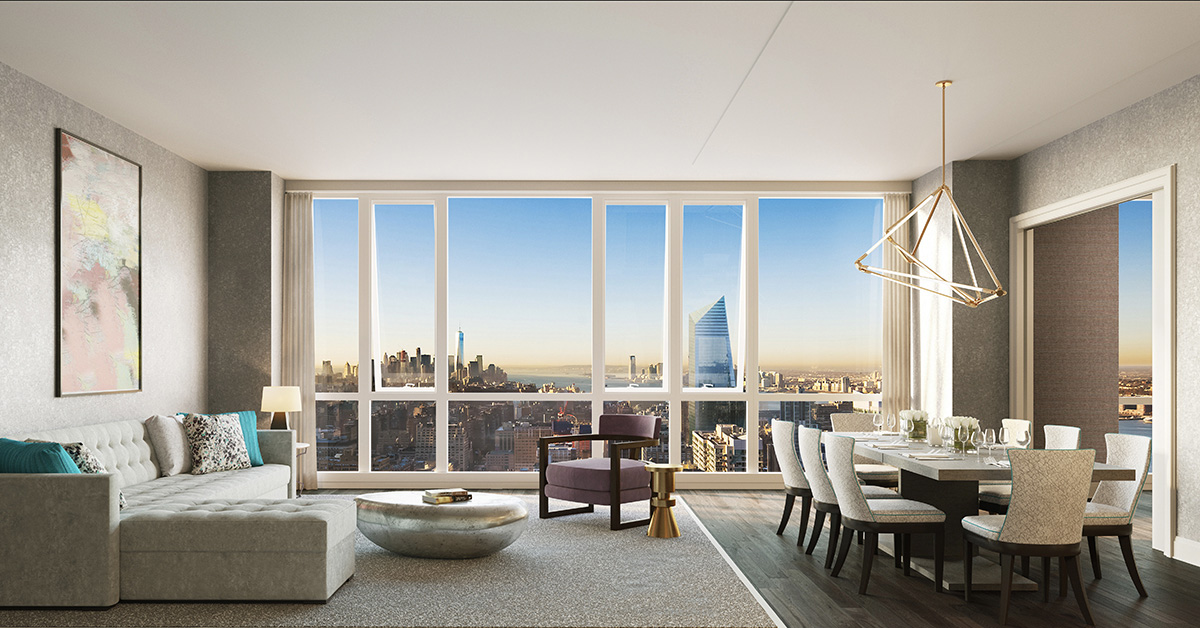 Manhattan view condo launches full website touting luxury for Condominium for sale in nyc