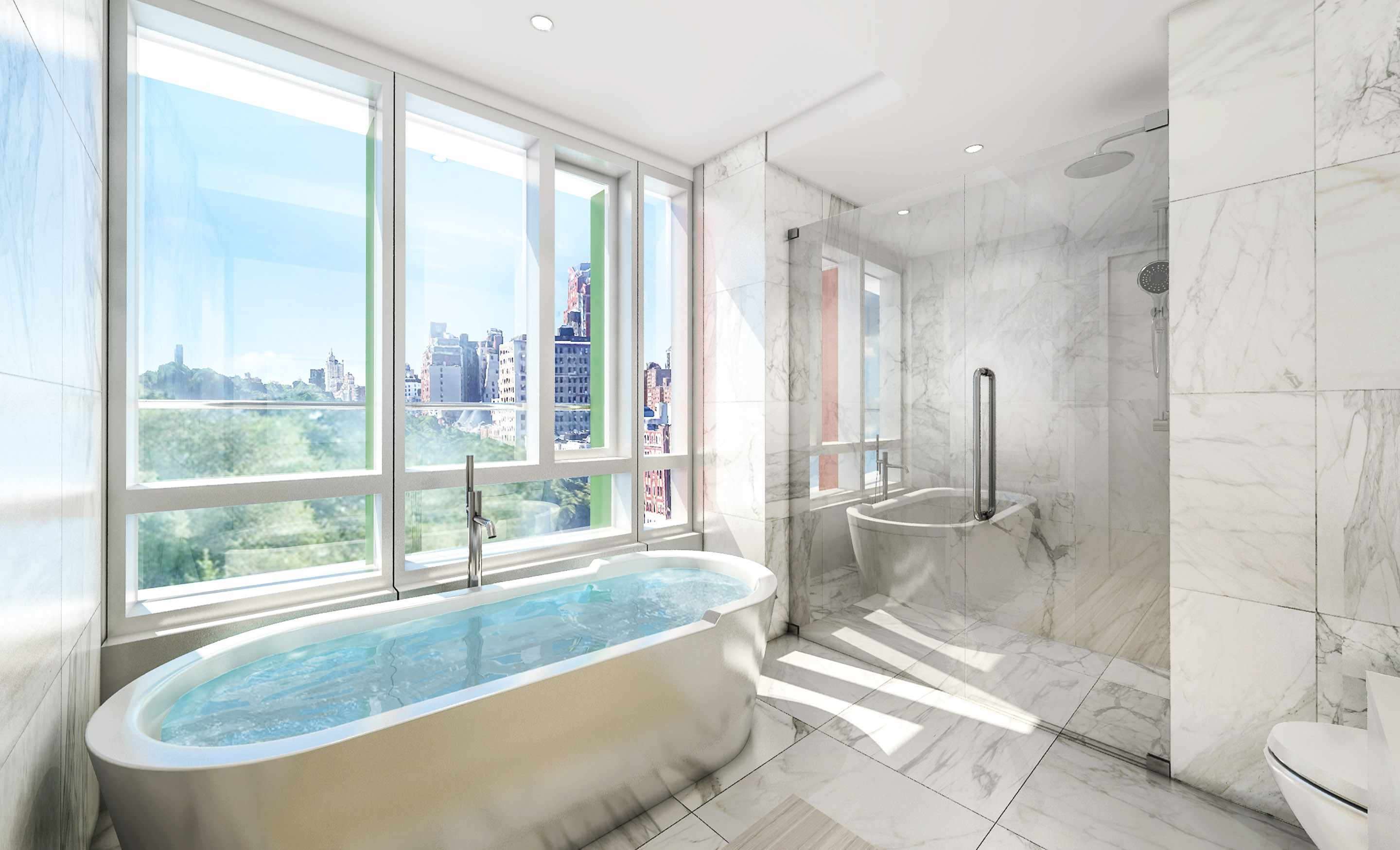 Construction update fxfowle s circa central park nears for Apartment for sale manhattan