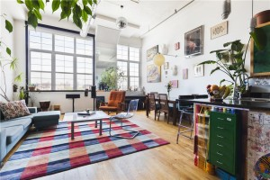 689 Myrtle Avenue, bed-stuy, living room, chocolate factory lofts