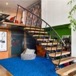 689 Myrtle Avenue, staircase, closet