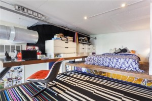 689 Myrtle Avenue, lofted bedroom