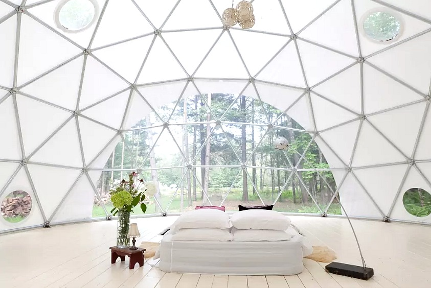 go glamping in a geodesic dome on a catskills farm for 350 night