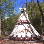 Sioux Tipi in Woodstock, tipi rental, Woodstock camping, Sawkill Creek