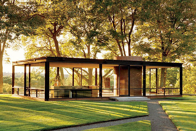phillip johnson's glass house