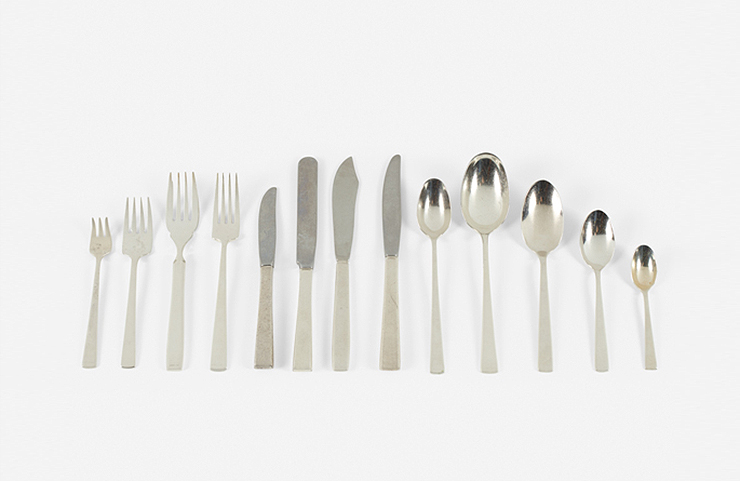 Garth and Ada Louise Huxtable Flatware from The Four Seasons