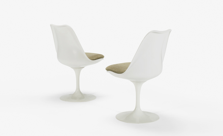 Four Seasons Auction Saarinen Tulip Chairs