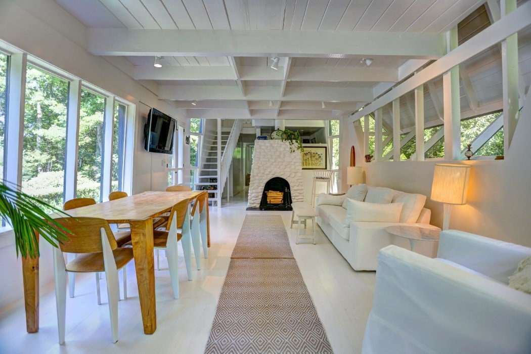 Dreamy Long Island Vacation Home Designed by Architect Andrew Geller on brick steps design, house on stilts designs, brick interior design, house with roof terrace,