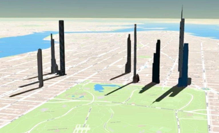 Time Lapse Video Shows How Midtown's Tall Towers Will Cast Dark Shadows on the Park