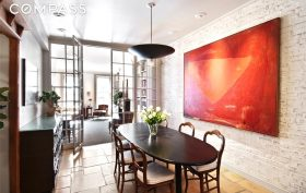 69 perry street, west village, rental, dining room