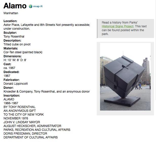 NYC Public Art Map-Alamo