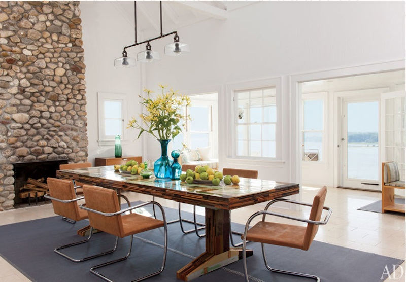 Shelter Island, Michael Haverland Architect, Shelter Island house, dining room