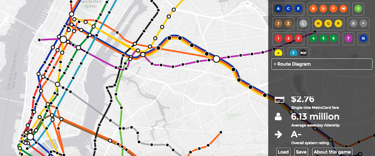 Manhattan Mta Mini Subway Map And Address Finder.New Interactive Subway Game Lets You Build The Transit System Of