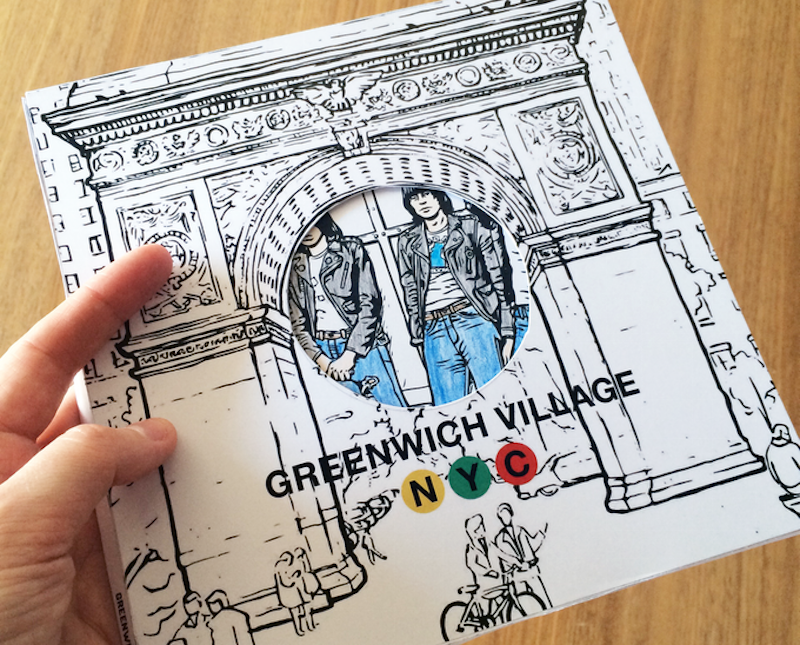 Blocks, Coloring Book, Adult coloring book, walking tours, Greenwich Village, Music, Culture, '60s, '70s, nostsalgia, bob dylan, folk scene, nyc culture