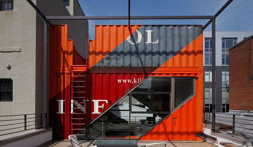 LOT-EK shipping container brooklyn carraige house, shipping container architecture, lot-ek, lot-ek nyc