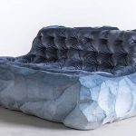 Fernando Mastrangelo, glacier furniture, Drift furniture, sand furniture, Brooklyn studio, artist Matthew Barney, blue-shaded furniture