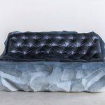 Fernando Mastrangelo, glacier furniture, Drift furniture, sand furniture, Brooklyn studio, artist Matthew Barney, blue-shaded furniture