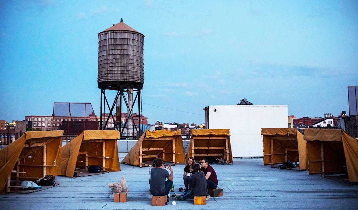 Bivouac Offers Free Off-grid Camping on a Secret NYC Rooftop | 6sqft