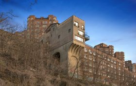 16 Chittenden Avenue, Pumpkin House, Hudson Heights, NYC cliffside house