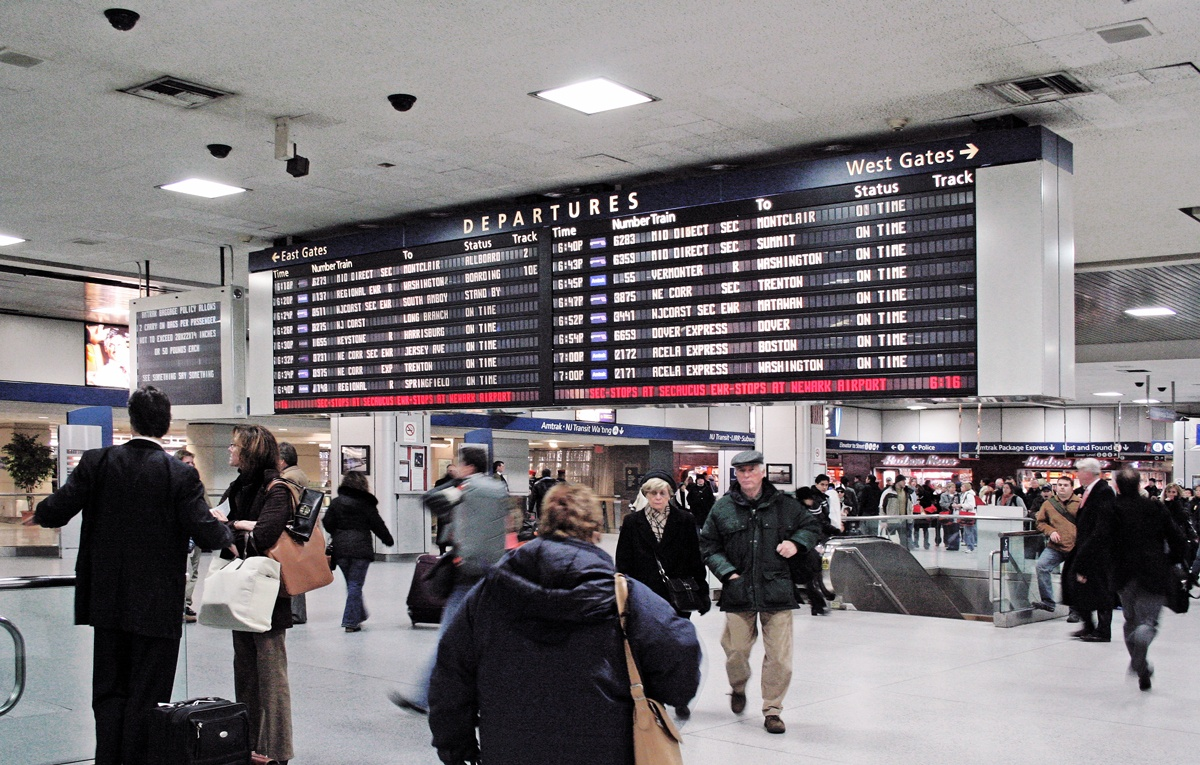 Penn Station, Amtrak, Departure Board, MTA