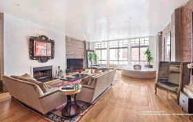 354 broadway, duplex, tribeca, living room