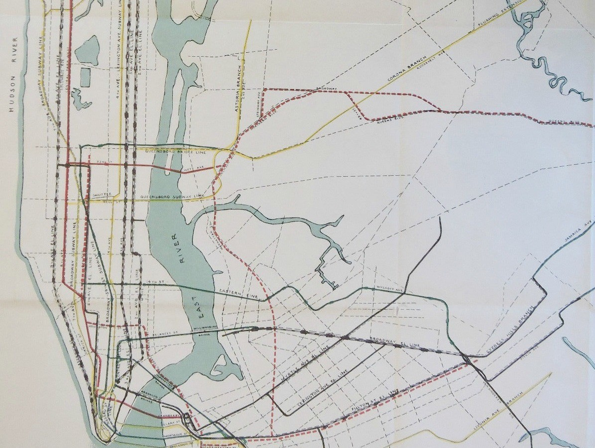 Astoria Subway Map.This 1927 City Subway Map Shows Early Transit Plans 6sqft