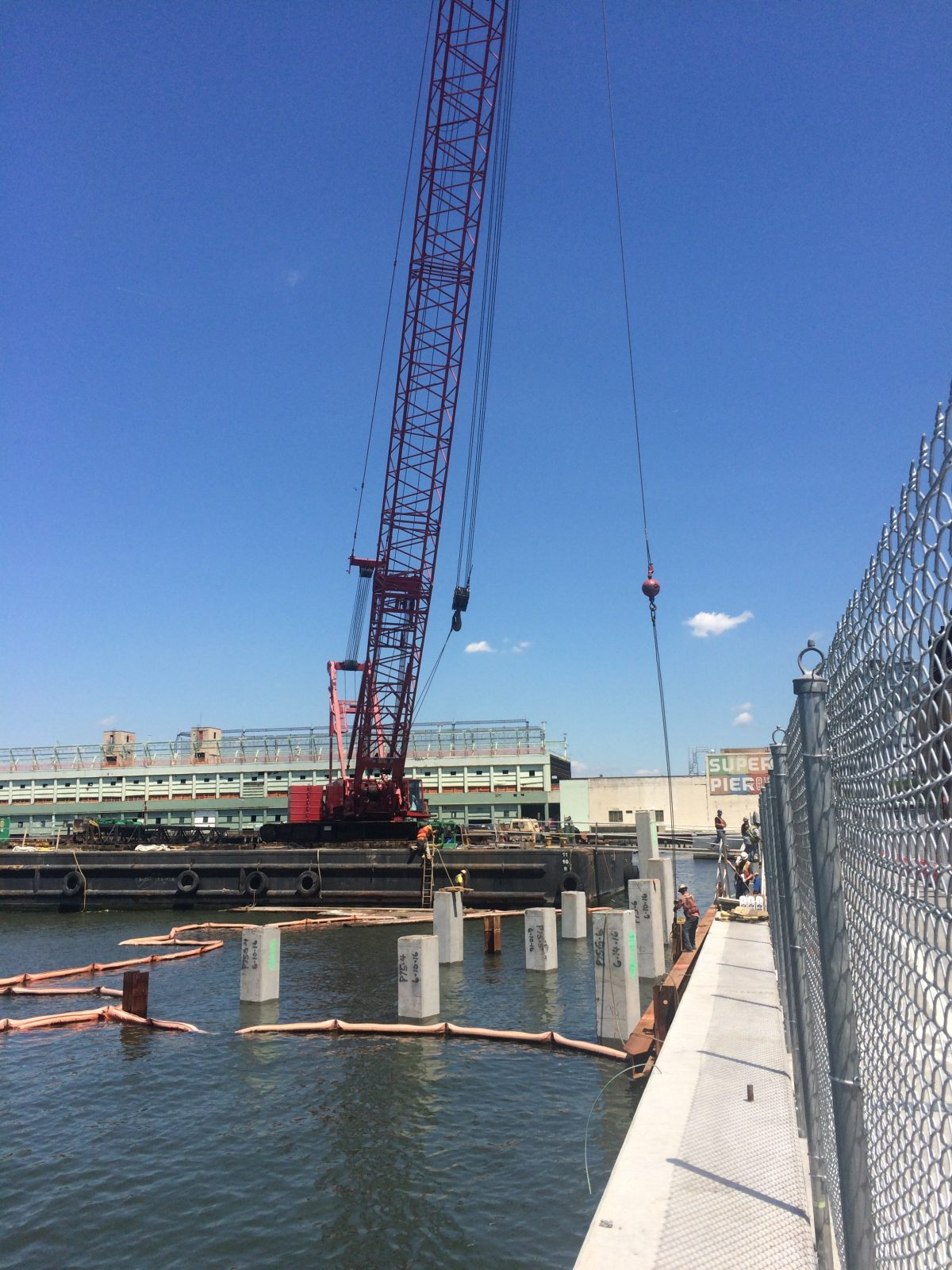 Pier55 first nine piles