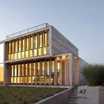Bates + Masi Architects, canvas facade, Amagansett Dunes, canvas louvers, concrete home, marine breeze as ventilation, passive house,