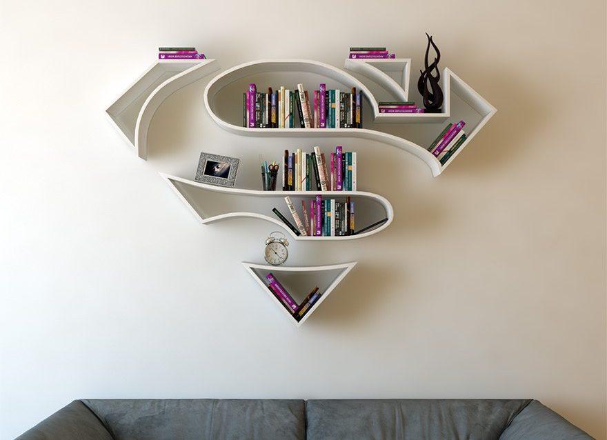 Superhero bookshelves transform your living room into a secret urban lair