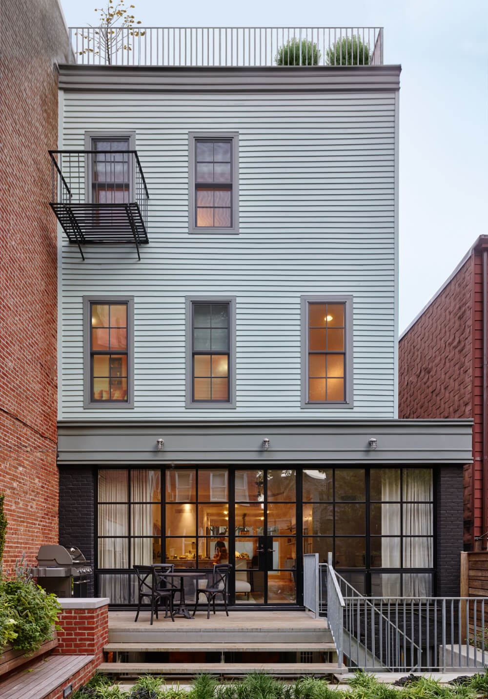 greenpoint row house, DELSON OR SHERMAN ARCHITECTS PC